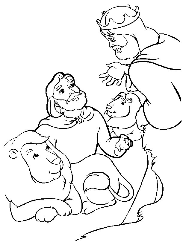 Daniel Lion Coloring Pages